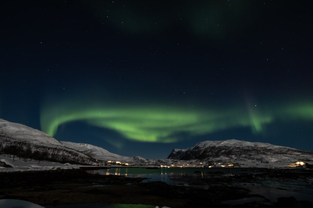 The Lights over Tromsø in the distance