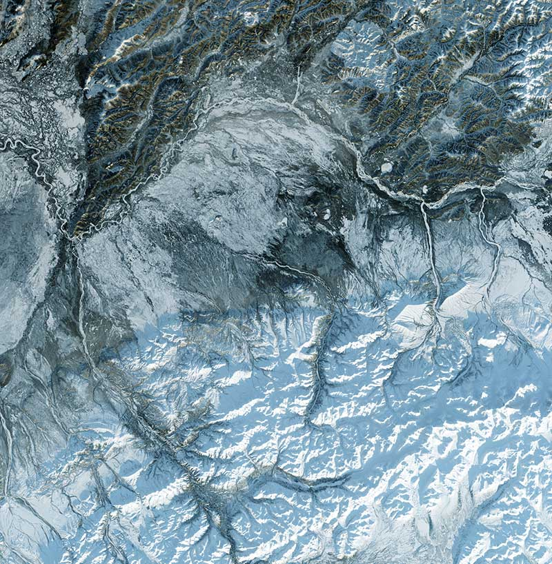 satellite imagery of North Pole for polar expeditions