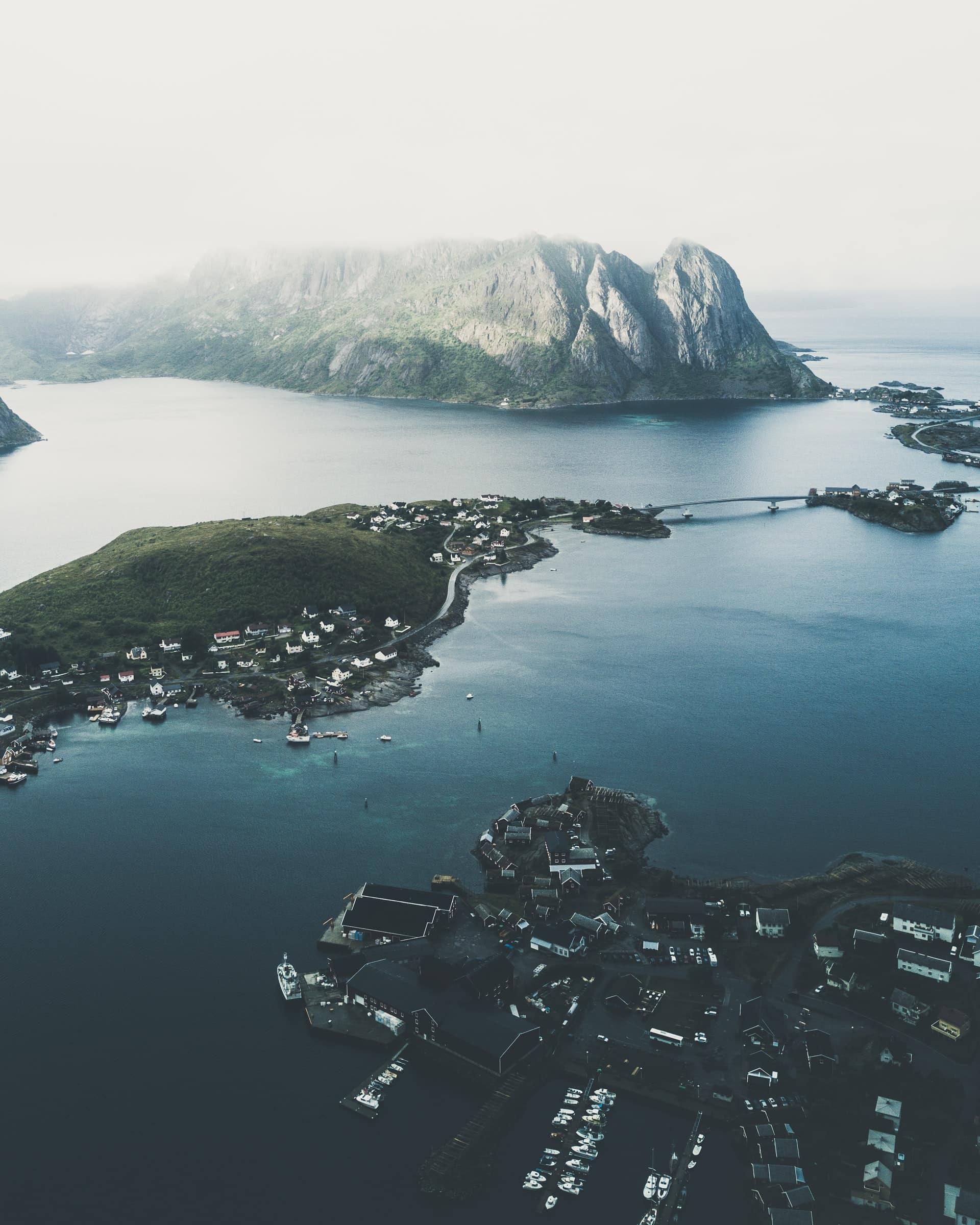 View of the Lofoten Islands in Norway.