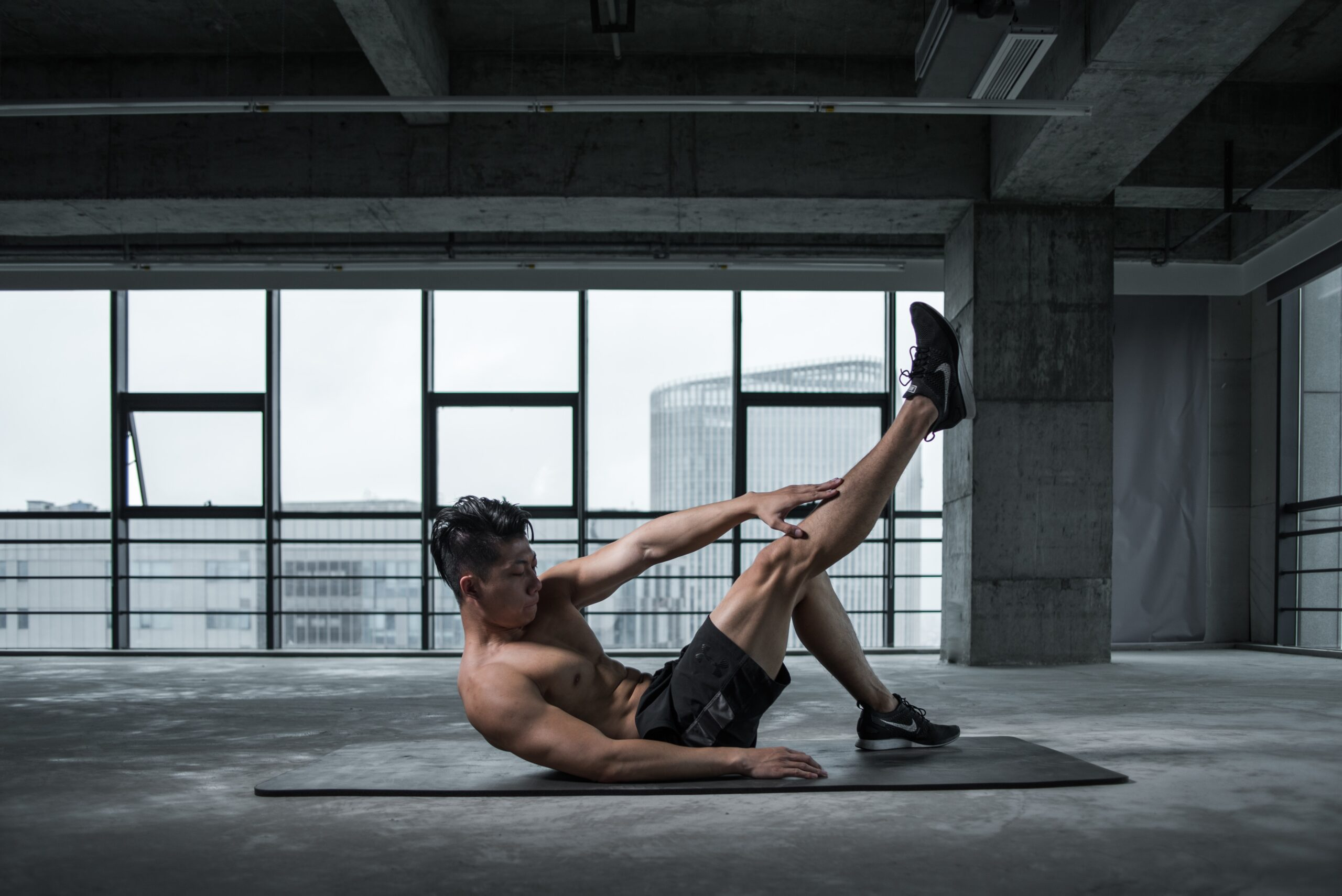 Male athlete working out