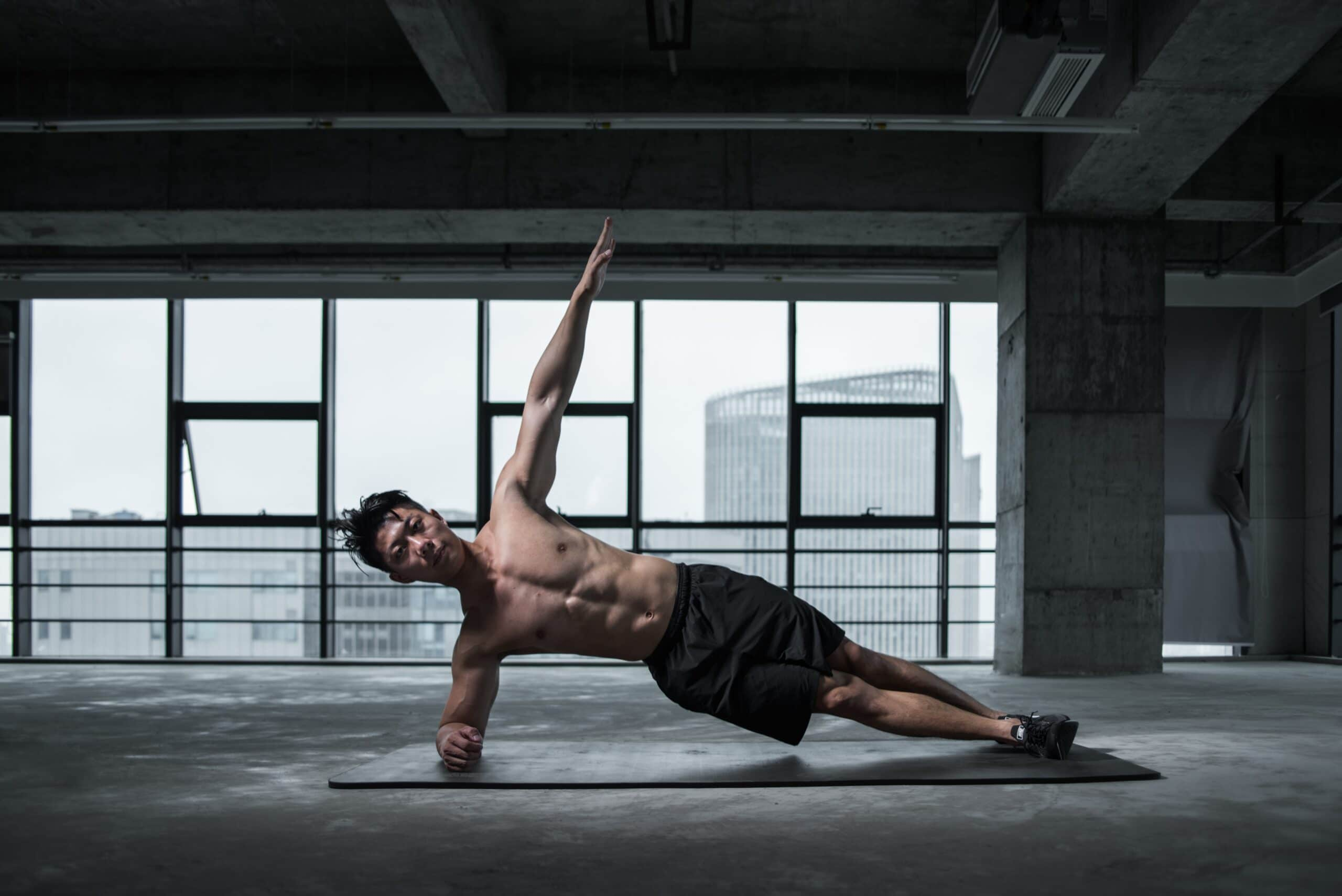 Workout for Men's abs male athlete