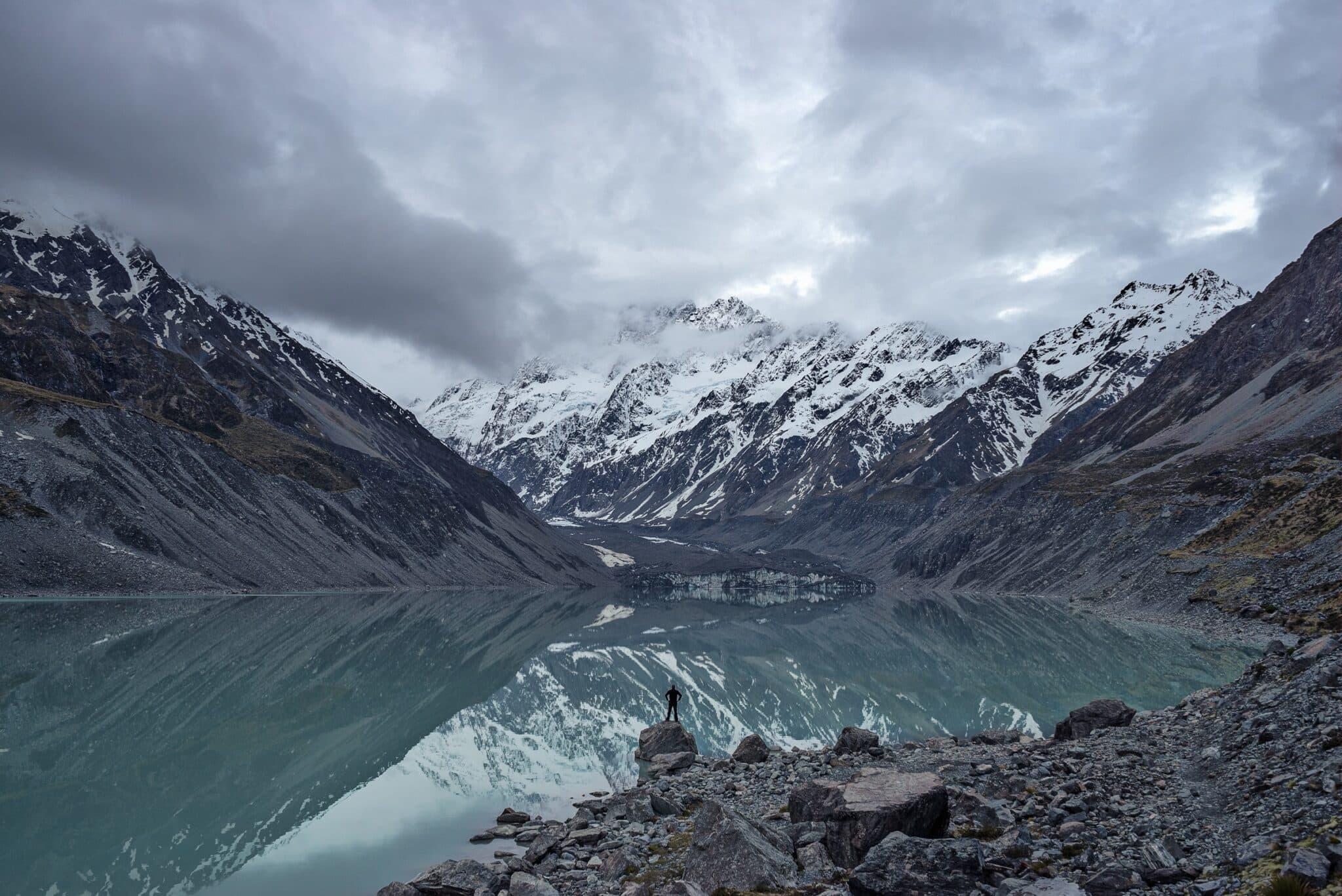 Mountains and lake