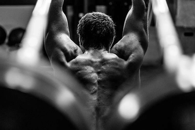 workouts for shoulders and arms with male athlete