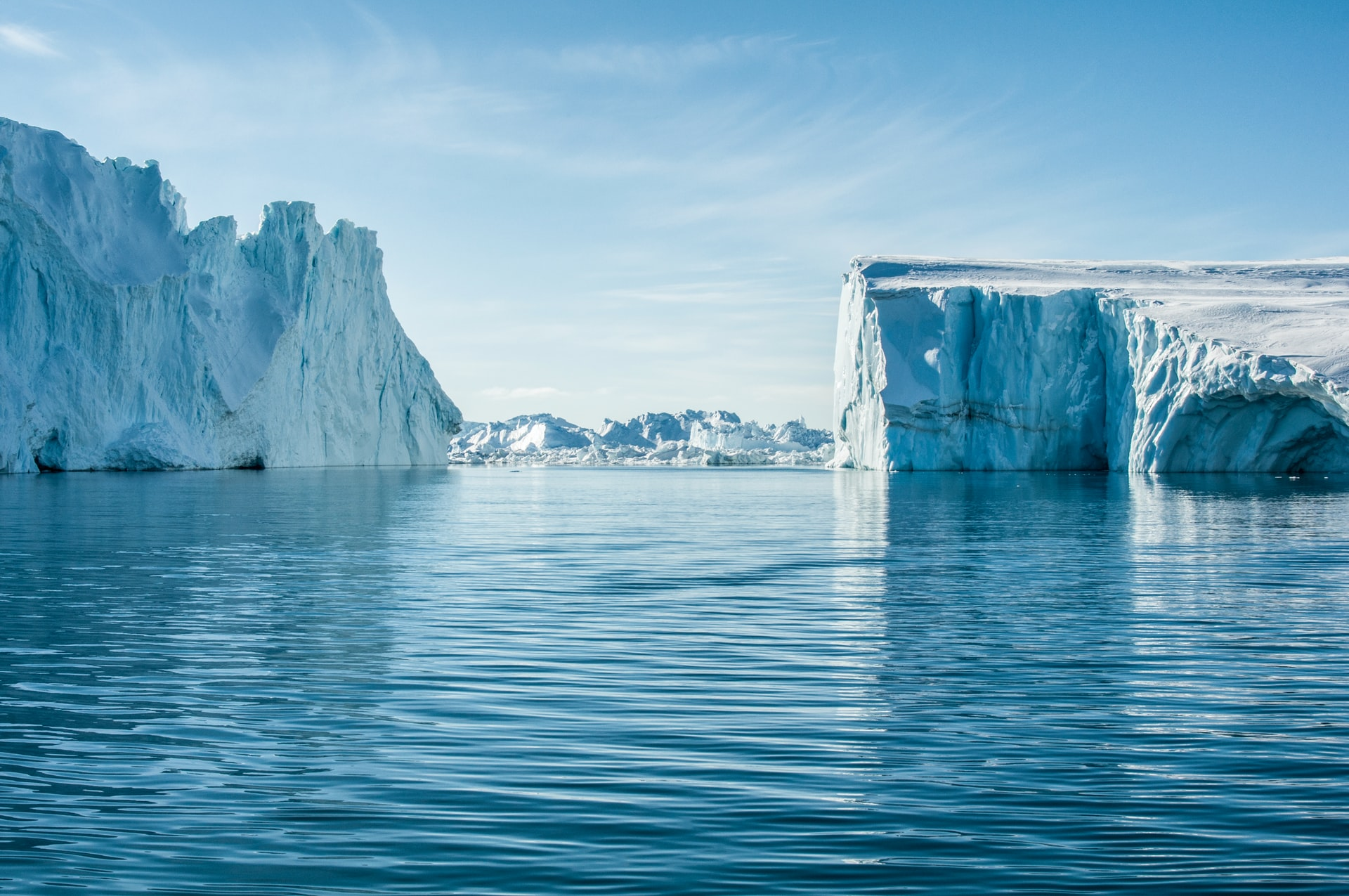 Ice fjord in Greenland