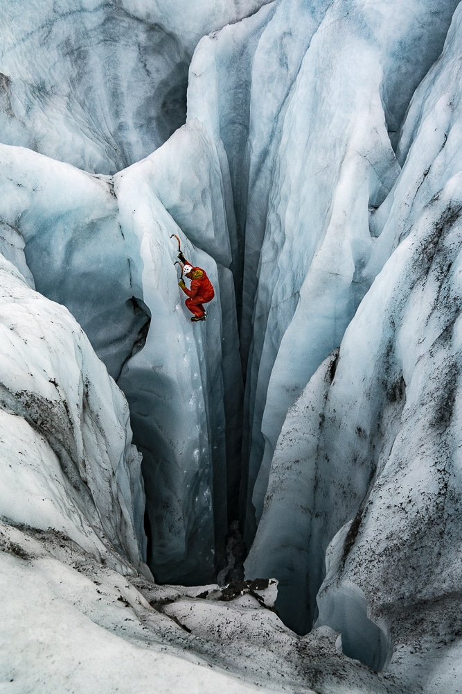 into the void ice climbing