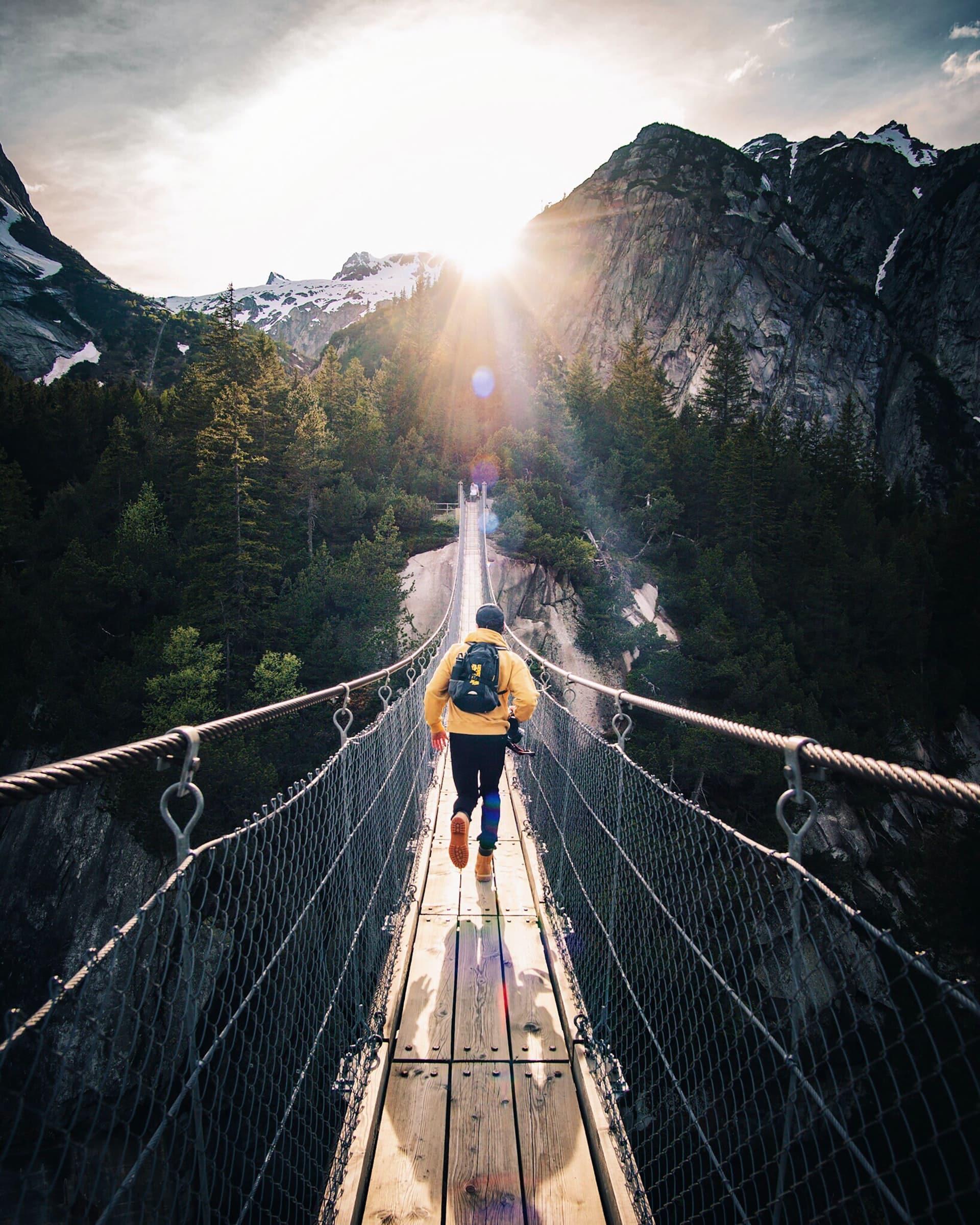 escape runner on bridge