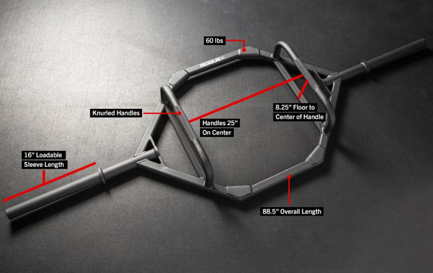 specifications for a trap bar.