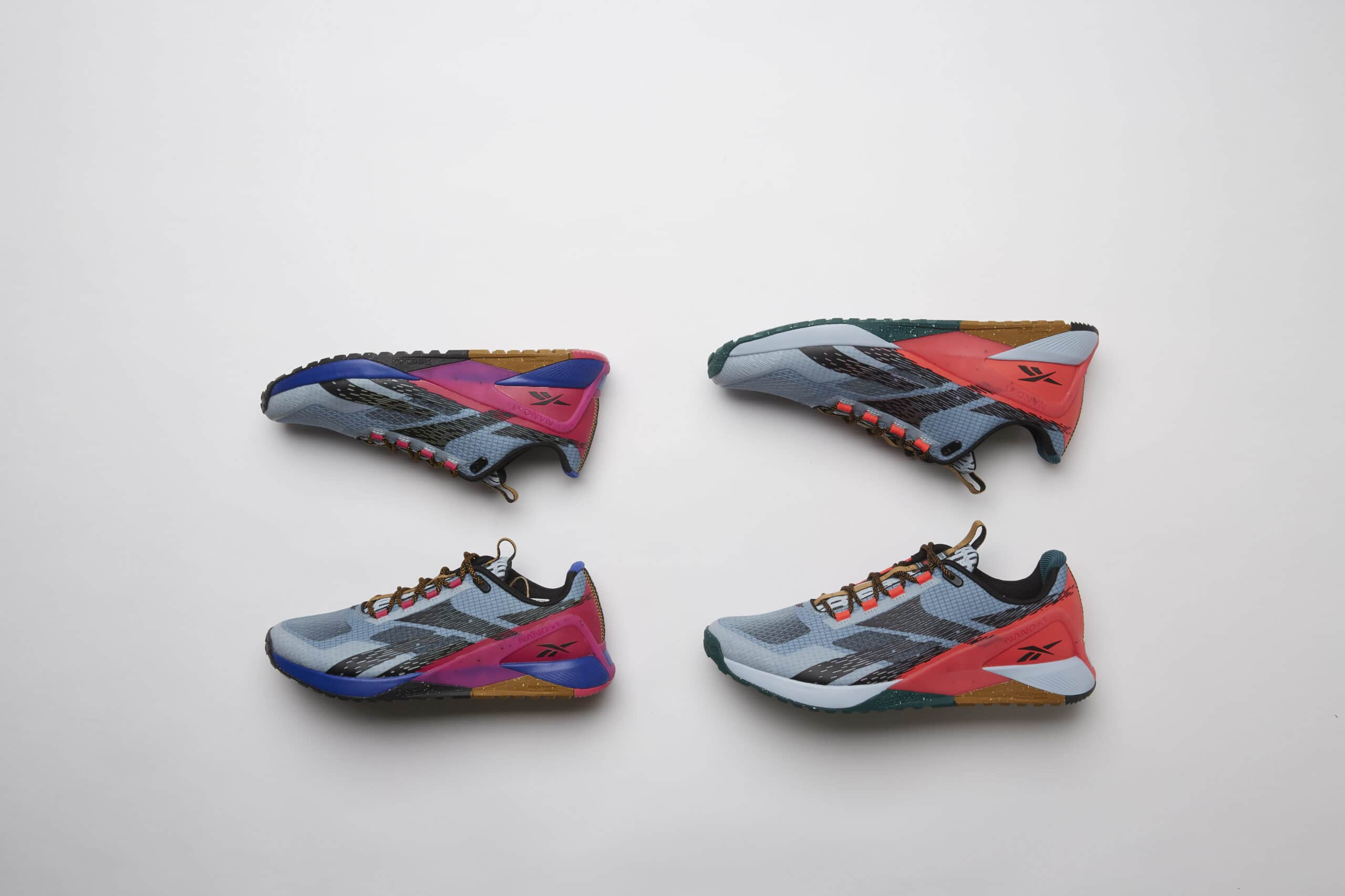 Reebok shoes close up
