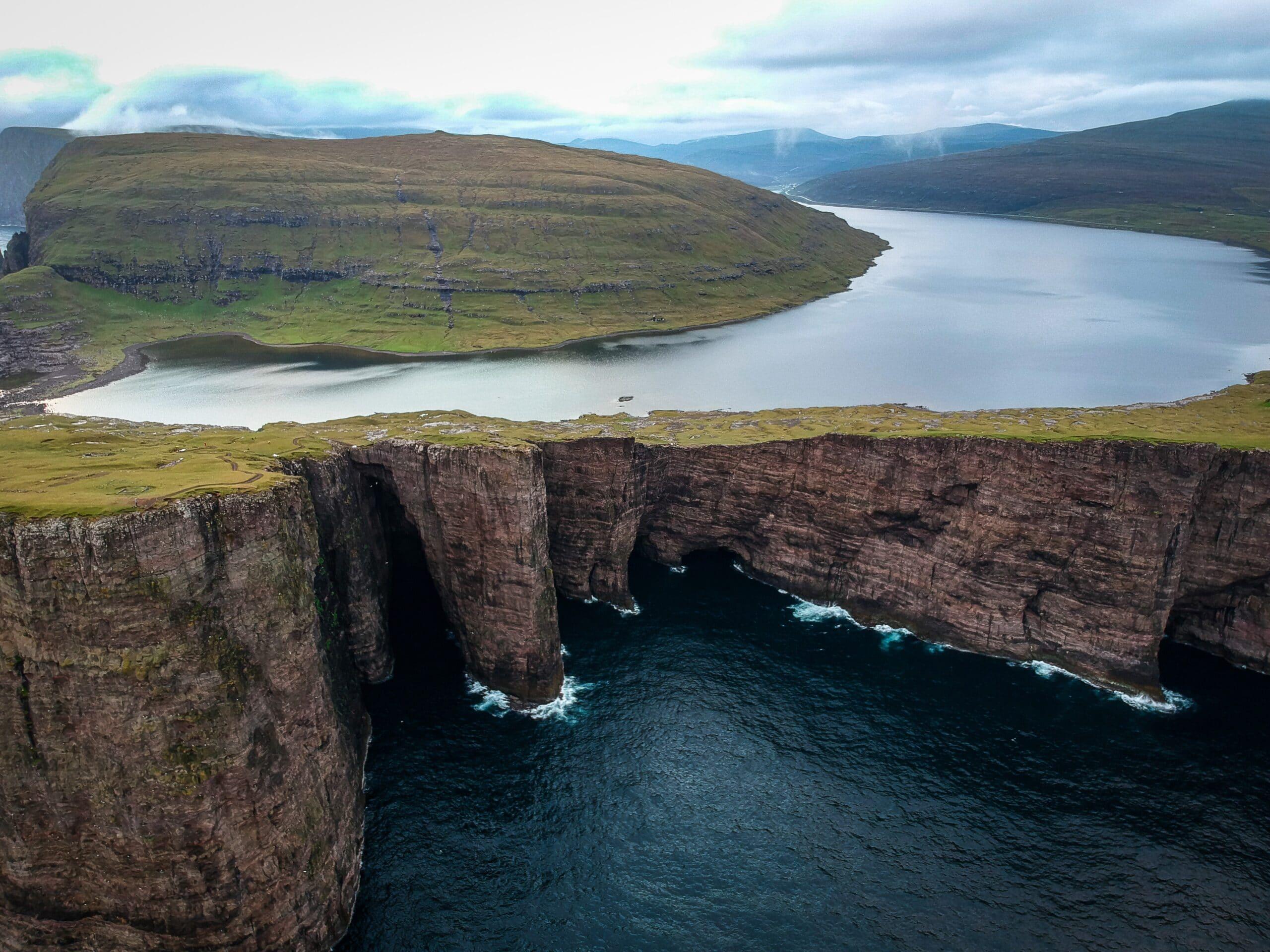 Lake in the Faroe Islands