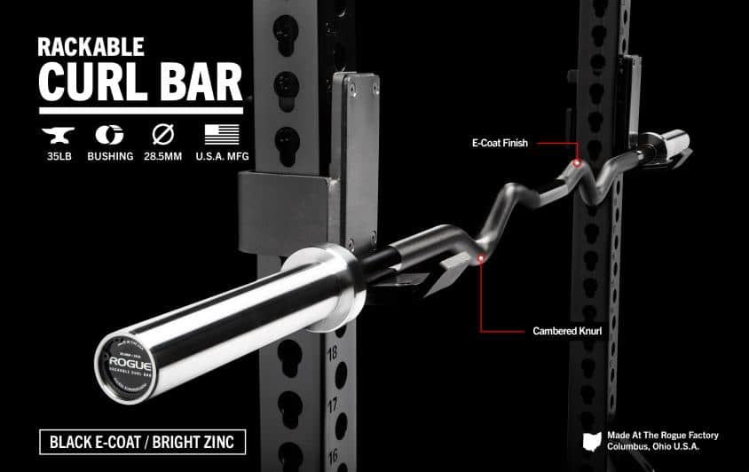 Rogue Rackable curl bar