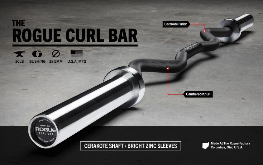 Rogue Curl Bar Cerakote Variation